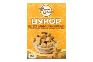 Сахар коричневый пресованный в кубиках быстрорастворимый Sweet Cubes к/у 250г