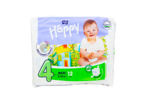 Подгузники детские 8-18кг Maxi Bella baby happy 12шт