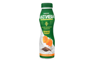 Бифидойогурт 1.5% Курага-лён Активiа п/бут 290г