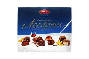 Цукерки шоколадні Асорті молочний шоколад АВК 200г