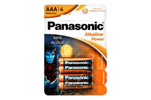 Батарейка AAA 1.5V LR03 №MN2400 Alkaline power Panasonic 4шт