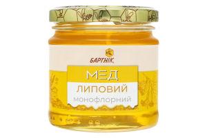 Мед монофлорный Липовый Бартнік с/б 250г