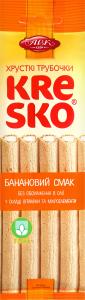 Трубочки хрустящие банановый вкус Kresko АВК м/у 40г