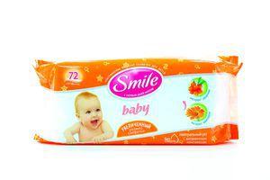 Салфетки влажные детские Экстракт облепихи и календулы Baby Smile 72шт
