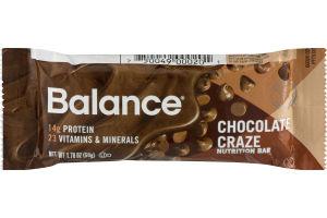 Balance Chocolate Craze Nutrition Bar