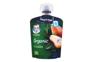 Пюре для детей от 6мес Organic Груша Gerber д/п 90г