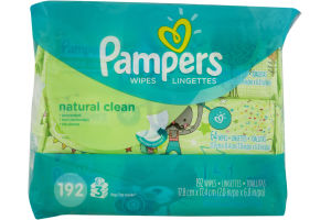 Pampers Baby Wipes Natural Clean - 192 CT
