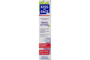 Kiss My Face Triple Action Anticavity Fluoride Toothpaste Fresh Mint