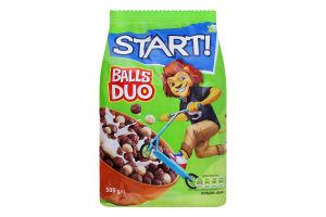 Сніданки сухі зернові Кульки Duo Start! м/у 500г