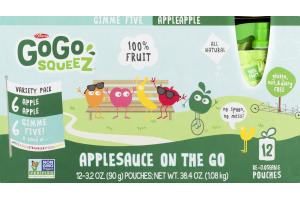 GoGo Squeez Applesauce On The Go Pouches Variety Pack - 12 CT