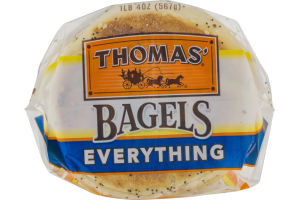 Thomas' Bagels Everything Pre-Sliced - 6 CT