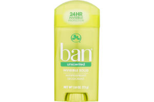 Ban Invisible Solid Antiperspirant Deodorant Unscented
