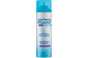 Rave 4x Mega Unscented Hairspray