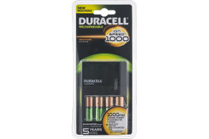 Duracell Rechargeable Batteries & Charger Ion Speed 1000 - 4 CT