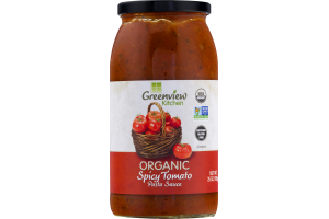Greenview Kitchen Organic Spicy Tomato Pasta Sauce