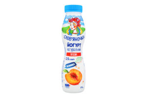 Йогурт 2.5% натуральний Персик Слов'яночка п/пл 270г