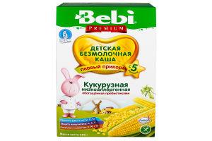 Каша безмолочна низькоалергенна для дітей від 5міс Кукурудзяна Premium Bebi к/у 200г