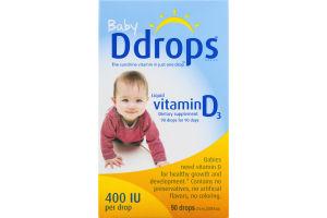 Ddrops Baby Liquid Vitamin D3 - 90 Drops