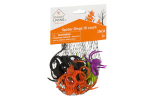 Smart Living Halloween Spider Rings - 10 CT