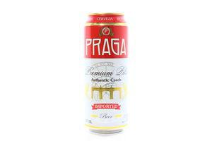 Пиво Praga Premium Pils 4.7% з/б 0.5л х24