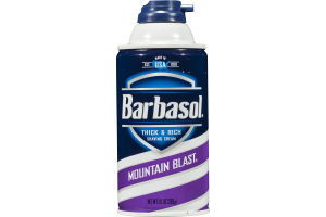 Barbasol Thick & Rich Saving Cream Mountain Blast