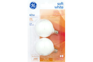 GE Lightbulbs Soft White 40W - 2 CT