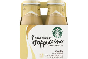 Starbucks Frappuccino Chilled Coffee Drink Vanilla - 4 PK