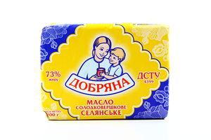 Масло 73% сладкосливочное Крестьянское Добряна м/у 200г