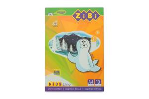 Картон білий А4 10аркушів №ZB.1990 Kids Line ZiBi 1шт