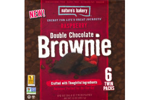 Nature's Bakery Raspberry Double Chocolate Brownie - 6 CT