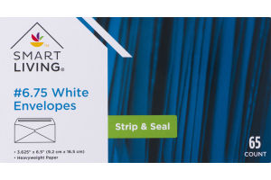 Smart Living #6.75 White Envelopes Strip & Seal - 65 CT