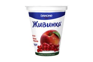 Йогурт 1.5% Персик-Красная смородина Живинка ст 280г