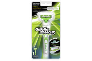 Станок Gillette Mach-3 Sensitive+1картридж