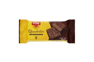 Вафлі з какао в темному шоколаді Quadritos Schar м/у 40г