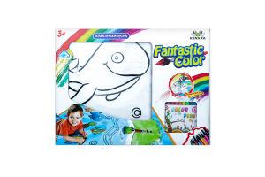 Н-р игрушечный Раскраска Подводные приключения D1