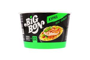 Локшина швидкого приготування Курка+соус Сальса BigBon ст 85г