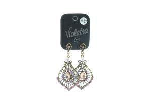 Серьги с подвесками №124120 Violetta 1пара