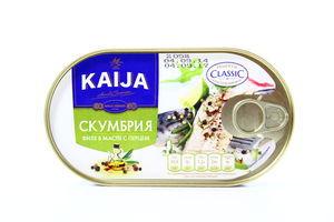 Филе скумбрии Kaija в масле с перцем ж/б ключ 170г