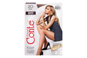 Колготки жіночі Conte City №8С-39СПС 20den 4-L bronz