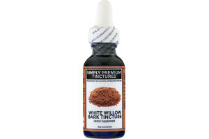Simply Premium Tinctures Herbal Supplement White Willow Bark