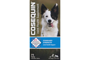 Cosequin Joint Health Supplement Standard Strength For Dogs of All Sizes Tasty Chewable Tablets - 75 CT