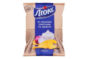 Чипсы картофельные Сметана и лук Люкс м/у 71г