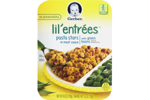 Gerber Lil' Entrees Pasta Stars in Meat Sauce with Green Beans