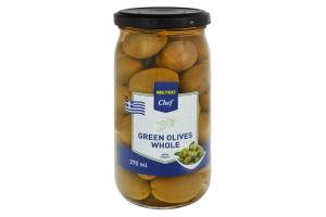 Оливки зеленые с косточкой Metro Chef с/б 350г