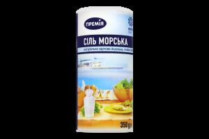 Соль Премія морская йодированная помол №0 Солонка