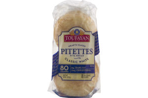 Toufayan Bakeries Pitettes Pita Bread Classic White - 8 CT