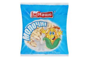 Палочки кукурузные сладкие неглазированные молочные ЇжНаше м/у 175г