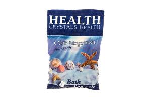 Сіль морська натуральна для ванн Crystals Health 500г