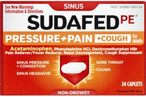 Sudafed PE Sinus Pressure + Pain + Cough Caplets - 24 CT