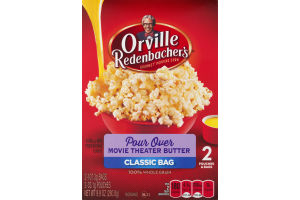 Orville Redenbacher's Gourmet Popping Corn Classic Bag Pour Over Movie Theater Butter - 2 CT